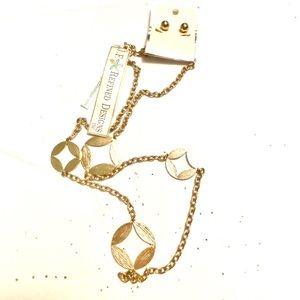 Gold necklace earrings SET Boutique